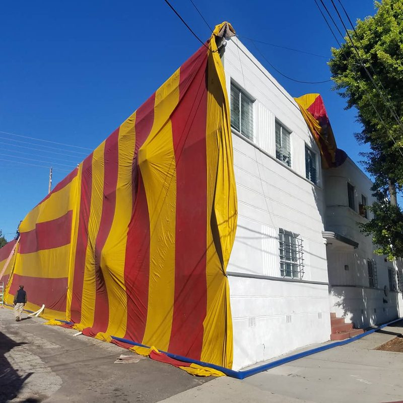 fumigation of historical building