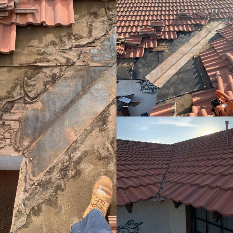 Wood damage and roof repair